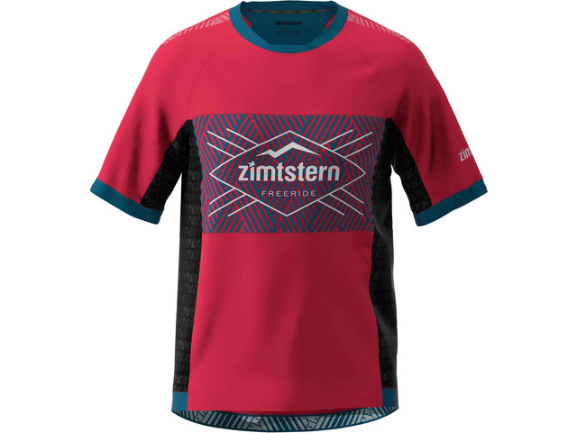 Zimtstern TechZonez SS Shirt Men jester red/french navy/glacier grey